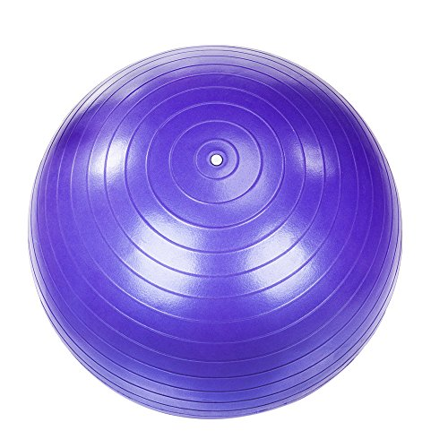 55cm 800g Gym Household Explosion-Proof Thicken Yoga Ball Smooth Surface Purple