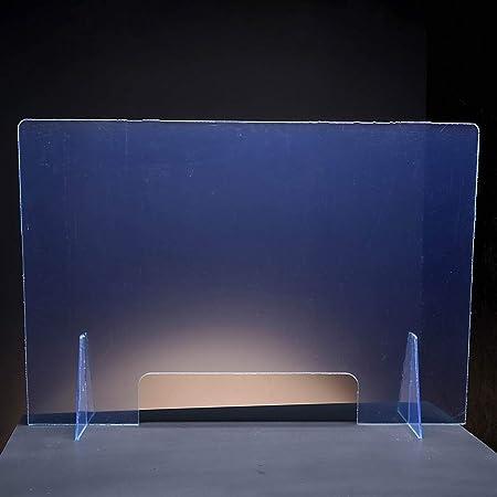 Pantalla/Mampara protección | Indicada para mostradores | Separador transparente para supermercados, farmacias, gasolineras y comercios | Fácil montaje | Sujeción con peanas | 650x680x4 mm.: Amazon.es: Hogar