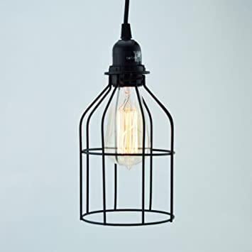fantado bottle shaped vintage edison light bulb cage for pendant lights by