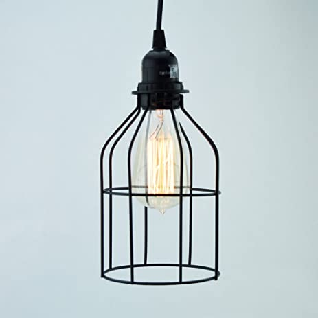 fantado bottle shaped vintage edison light bulb cage for pendant lights by cage only