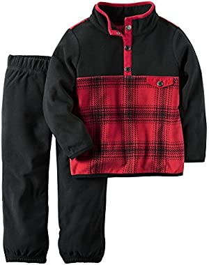 Carter's Baby Boys 2 Pc Playwear Sets, Plaid
