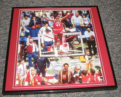 Cozell McQueen NC State 1983 National Championship Framed 12X12 Poster Photo