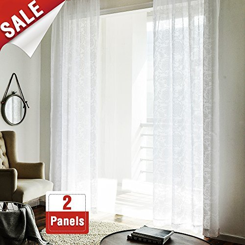 (jinchan French Door Panel Curtains for Living Room 72