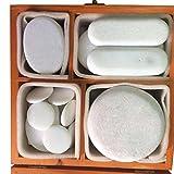 Zabrina 20 pcs Cold Stone Massage Stone Set Handcrafted Marble Stone Set