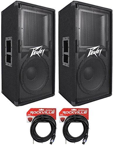 "(2) Peavey PV112 12"" Two Way 1600 Watt Pro Audio DJ Live Sound Speakers + ()"