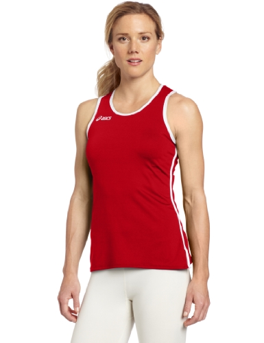 Field Red Jersey - ASICS Women's Field Jersey, Red/White, X-Small