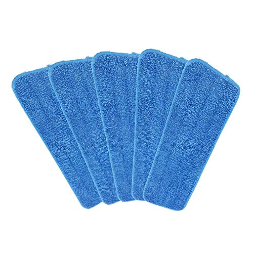 5 Pack Microfiber Mop Pads Head Wet Dry Mops Refill for 15