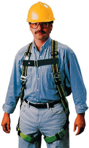 Miller by Honeywell E850D-7/XXLBL DuraFlex 850 Series Stretchable Full-Body Harness with Mating Buckle Leg Straps and Side D-Rings, XX-Large, Blue -