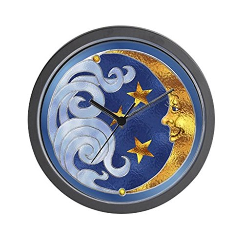 CafePress - Celestial Moon and Stars Wall Clock - Unique Decorative 10
