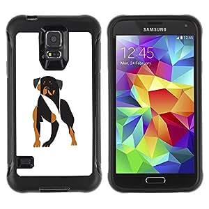 Suave TPU GEL Carcasa Funda Silicona Blando Estuche Caso de protección (para) Samsung Galaxy S5 V / CECELL Phone case / / Vicious dog /