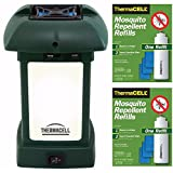 Thermacell MR-9L Outdoor Mosquito Repeller plus Lantern & Two Refill Packs Bundle (6 Mats, 2 Cartridges)