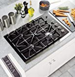 black 30 gas cooktop - GE Profile 30