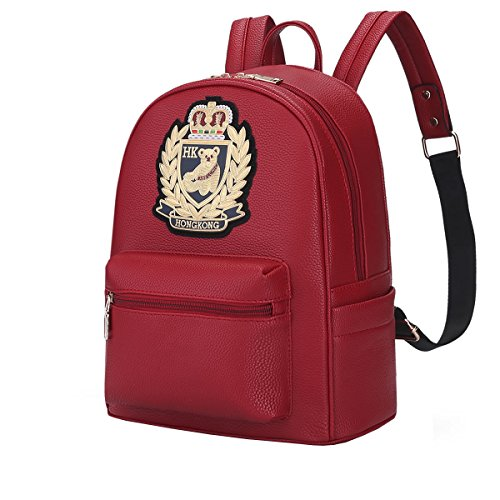 DISSA - Bolso mochila para mujer One size Rojo