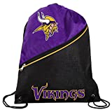 Minnesota Vikings High End Diagonal Zipper Drawstring Backpack Gym Bag