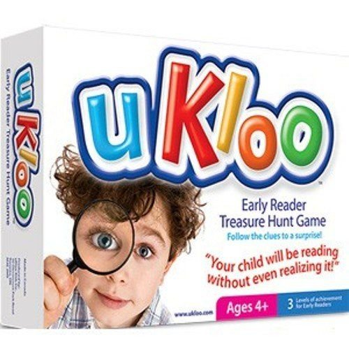 (uKloo Early Reader Treasure Hunt Game – Award Winning Educational Scavenger Hunt Activity for New Readers - Picture Dictionary, Clue/Flash cards - All Abilities – Gifted & ADHD,)