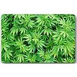 Marijuana Weed Leaf Door Mats Cover Non-Slip Machine Washable Outdoor Indoor Bathroom Kitchen Decor Rug Mat Welcome Doormat
