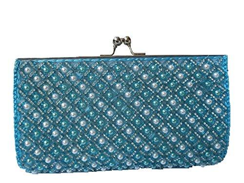Bag Womens Clutch Blue Beads Acrylic Beauty xq7awRfPq