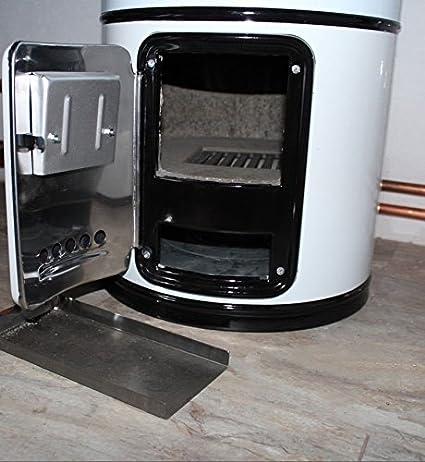 Caldera calentador de agua, combustión de madera, depósito de 80 L, resistente a la presión de 7 bares, combinación eléctrica: Amazon.es: Bricolaje y ...