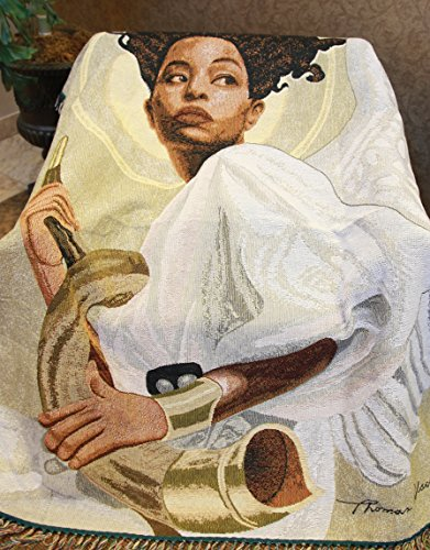 African American Expressions - Sounding The Alarm Tapestry Throw (100% Cotton, 4' x 5') TH-27 ()