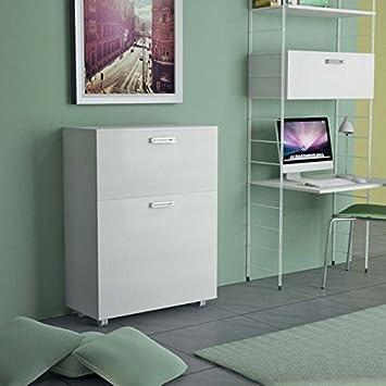 Mueble que se transforma en una cama individual, con somier de ...