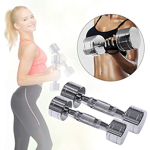 X-H 1kg Electroplate Fitness Hantel Frauen Übung Hantel Home Gym Muskelkrafttraining Workout