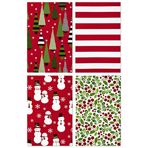 Hallmark Christmas Gift Box Assortment – Pack of 12 Patterned Shirt Boxes with Lids for Wrapping Gifts