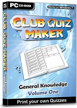 Club Quiz Maker - General Knowledge Volume 1: Amazon co uk: Software