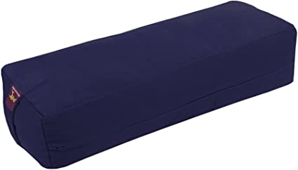 Removable Canvas Cover Yogavni Yoga Bolster Large Natural Cotton Filling 24 inches Long x 12 inches Wide x 6 inches high