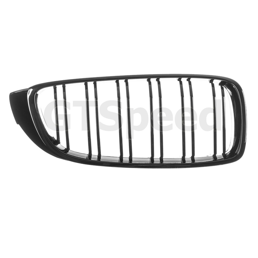 GT-Speed Made for 14-17 BMW F32 F33 F36 F80 F82 F83 4-Series 428i 435i Coupe 2dr M4 M3 Look Gloss Black Front Kidney Grille Grill