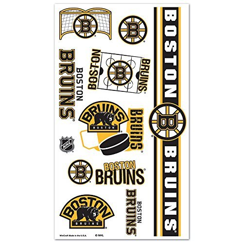 WinCraft NHL Boston Bruins Tattoos, Black ()