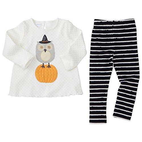 Mud Pie Little Girls' Halloween Long Sleeve Tunic (6-9 Months) -