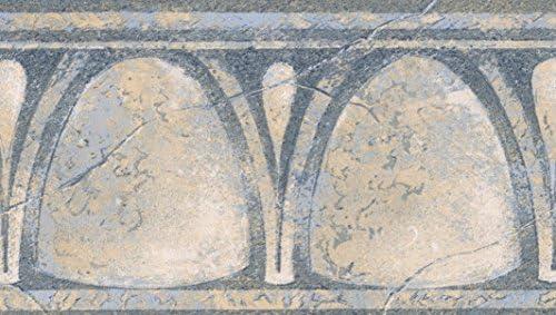 """ブルーイエローベージュの壁抽象的な古いスタイルのデザイン壁紙壁紙ロール15 'x 4.25 """""""