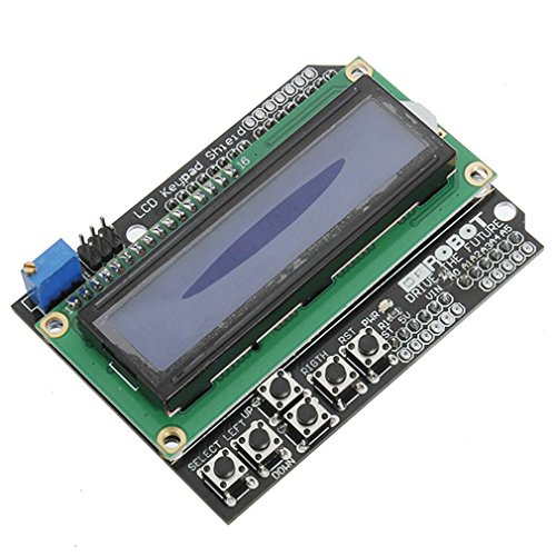 HiLetgo LCD1602 Input/Output Expansion Board LCD Keypad Shield for Arduino