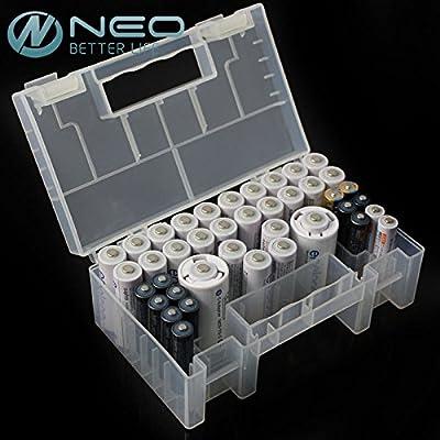 Generic Neo 15 cm de batería de plástico duro caso/organizador ...