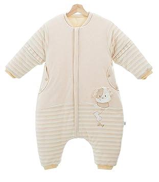 Baby Winter Schlafsack mit abnehmbar Langarm Füssen Warm Schlafanzug Soft neu