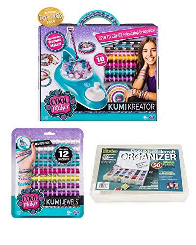 Cool Maker, KumiKreator Bracelet Maker! KumiCools Fashion 12 Pack Bracelet Maker! Storage Storage Case! Make Up to 22 Bracelets! for Ages 8 and Up