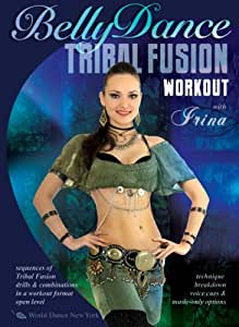 The Tribal Fusion Belly Dance Workout, with Irina: A bellydance fitness class of 100% tribal fusion style moves. Includes complete belly dance instructional how-to