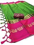 Fashionesta Latest Women Cotton Silk Saree with Extra Broket Blouse(9 COLOR)