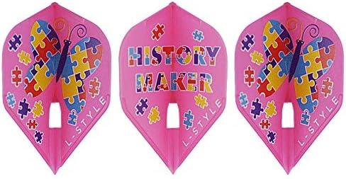 ダーツ フライト L-style 【エルスタイル】 ファロン ver.2 PRO スタンダード ホットピンク (Fallon ver.2 PRO L1 Hot Pink)   シャンパンリング対応フライト