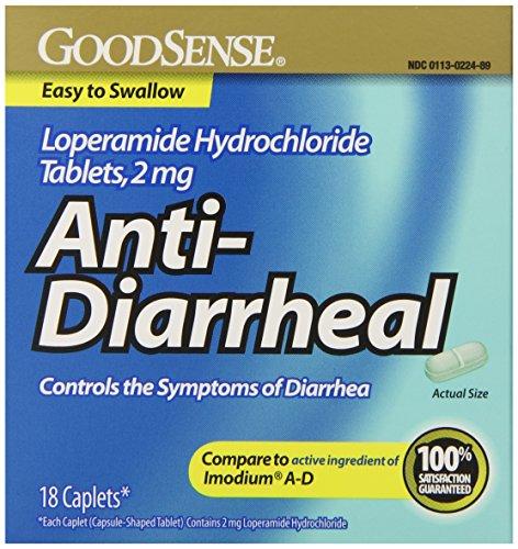 Sens anti-diarrhéiques chlorhydrate de lopéramide comprimés, 2 mg, 18-count (Pack de 24)