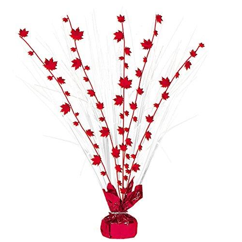 Canada Red Maple Leaf Spray Centerpiece - Canada Spray