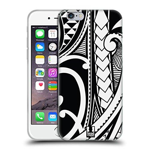 Head Case Designs Ornate Swirl Samoan Tattoo Soft Gel Case Compatible for iPhone 6 / iPhone 6s (Best Samoan Tattoo Designs)