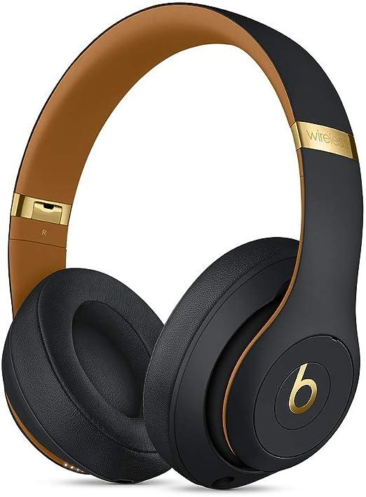 Beats Studio3 Wireless ワイヤレスノイズキャンセリングヘッドホン -Apple W1ヘッドフォンチップ、Class 1 Bluetooth、アクティブノイズキャンセリング機能、最長22時間の再生時間 The Beats Skyline Collection - ミッドナイトブラック