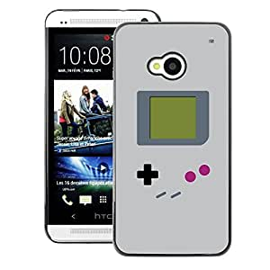 A-type Arte & diseño plástico duro Fundas Cover Cubre Hard Case Cover para HTC One M7 (Video Game Retro Art Painting)