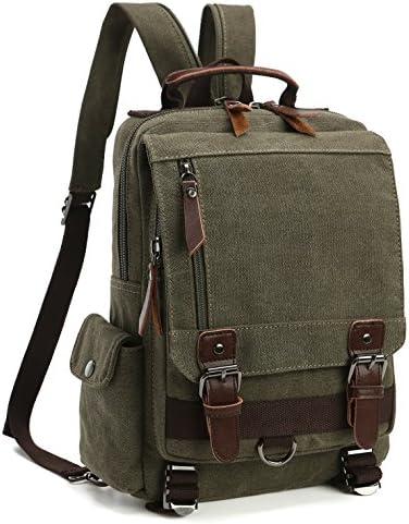 Vintage Canvas Backpacks Multifunction Drawstring Shoulder Bags Large Travel Laptop Casual School Pack for Men Women yd01