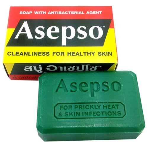 Asepso Antibacterial Agent Soap 2.8 Oz / 80 G from Thailand by Asepso Ketwanit Co. Ltd.