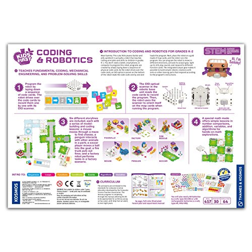 Thames & Kosmos Kids First Coding & Robotics | No App Needed | Grades K-2 | Intro to Sequences, Loops, Functions, Conditions, Events, Algorithms, Variables | Parents' Choice Gold Award Winner by Thames & Kosmos (Image #1)