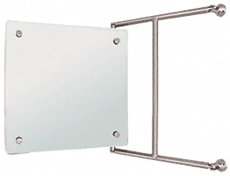 15 x 15 Brushed Nickel Frameless Pivot Mirror