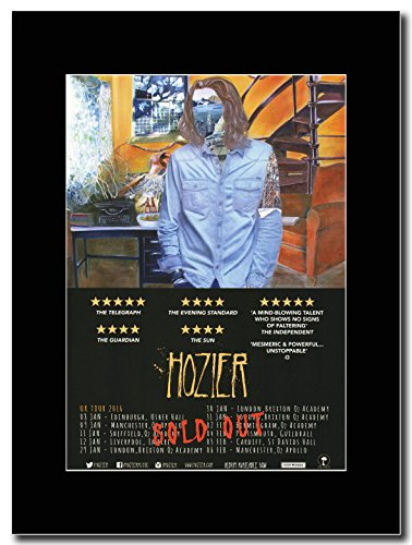 gasolinerainbows - Hozier - UK Tour Dates 2016 - Matted Mounted Magazine Promotional Artwork on a Black Mount ()