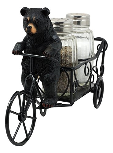 Ebros Whimsical Spice Delivery Express Black Bear Riding